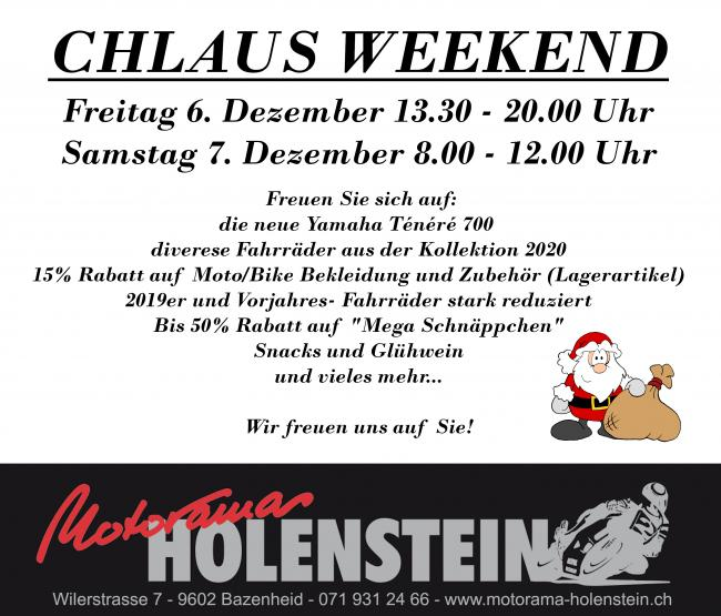 2019 Chlaus Weekend Inserat